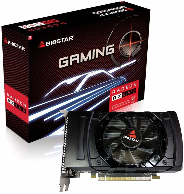 BIOSTAR Radeon RX550 4GB GPU