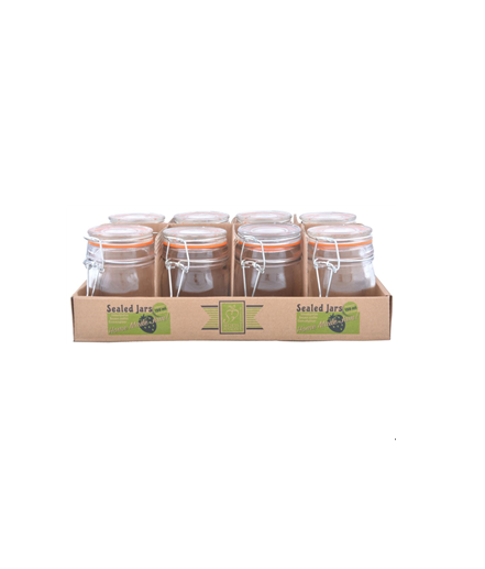 Flip Top Jar (Set Of 8)