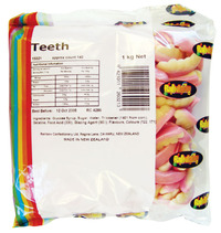 Teeth Lollies 1kg - Rainbow Confectionery image