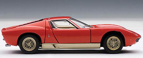 Autoart Lamborghini Miura Sv 1 43 Die Cast Model Red Images At