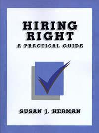 Hiring Right by Susan J. Herman image