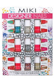 Miki Designer Nail Polish Kit (6 Colours, 3 Glitter Colours)
