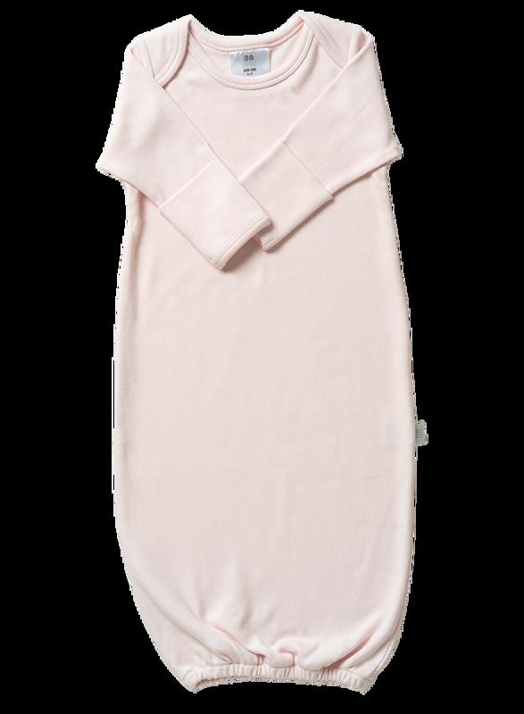 Babu: Organic Baby Bundler Sleep Sack - Shell Pink (New Born)