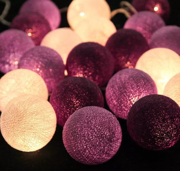 Short Story: Cotton Ball String Lights - Purple