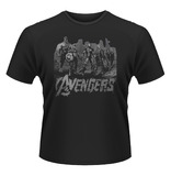 Avengers: Age of Ultron 'Team Art' Mens T-Shirt - Black (Large)