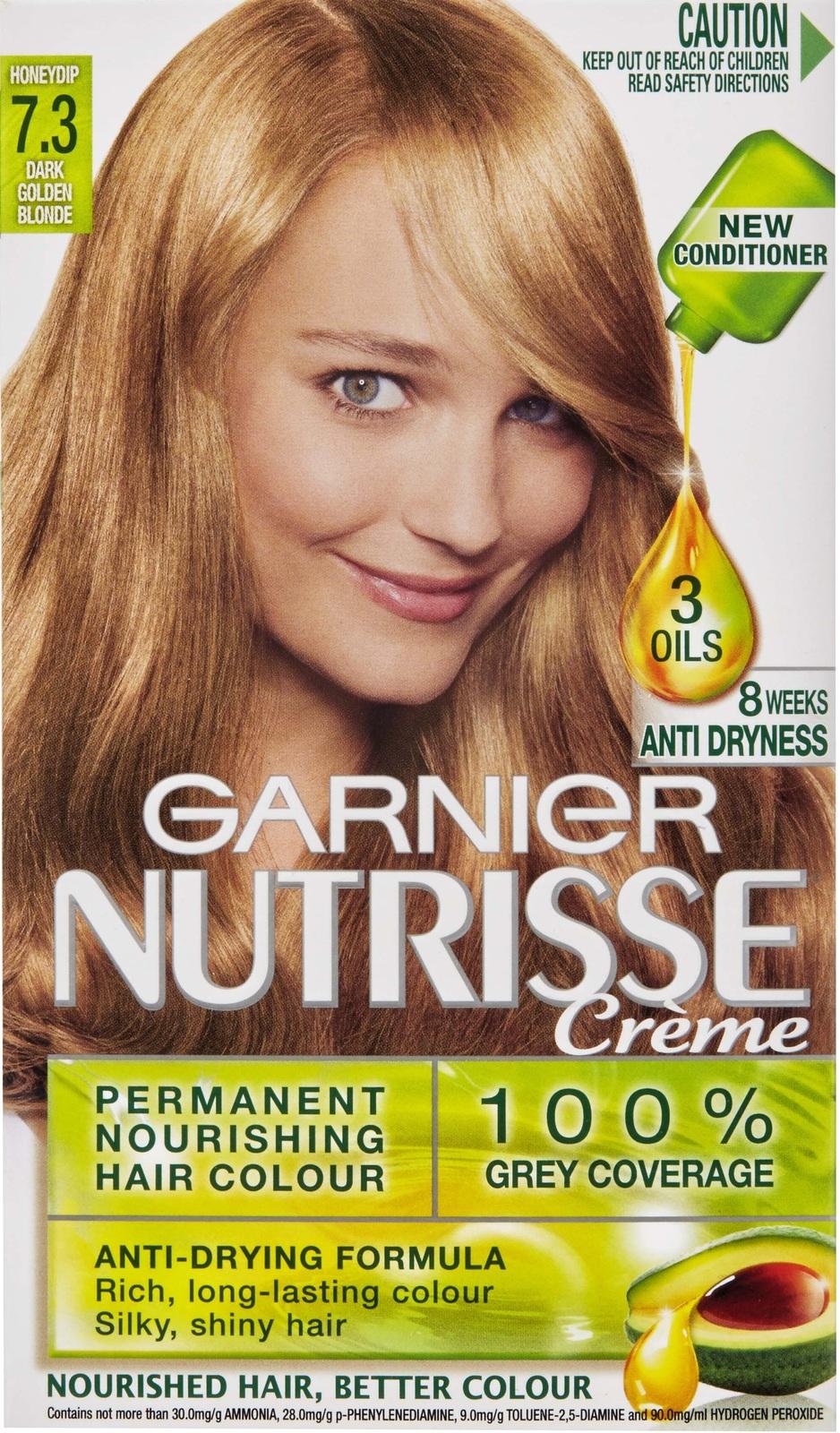 Garnier Nutrisse Permanent Nourishing Hair Colour   7.3 Honey Dip Image ...