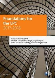 Foundations for the LPC 2017-2018 by Clare Firth