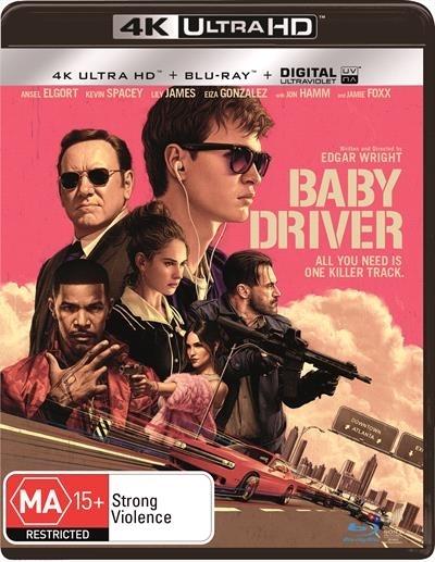 Baby Driver on Blu-ray, UHD Blu-ray image