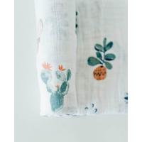 Little Unicorn: Cotton Muslin Swaddle - Prickle Pots (Single) image