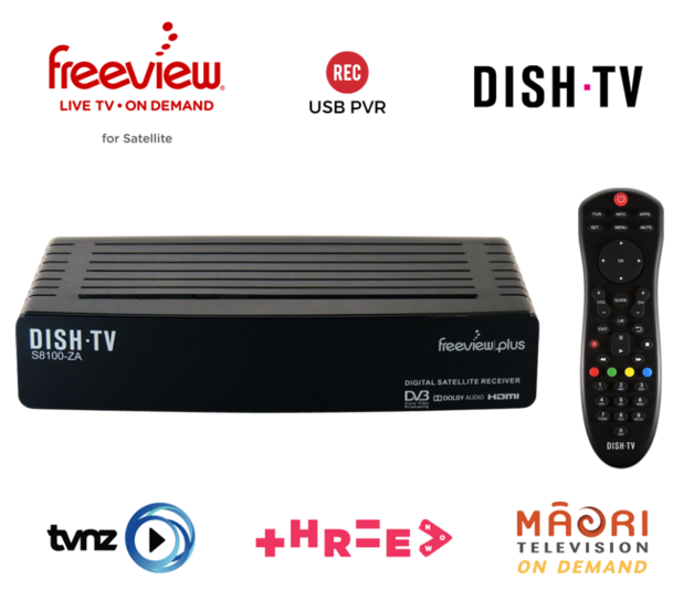 Dish-TV: Freeview Satellite Receiver with On Demand & USB Record - S8100