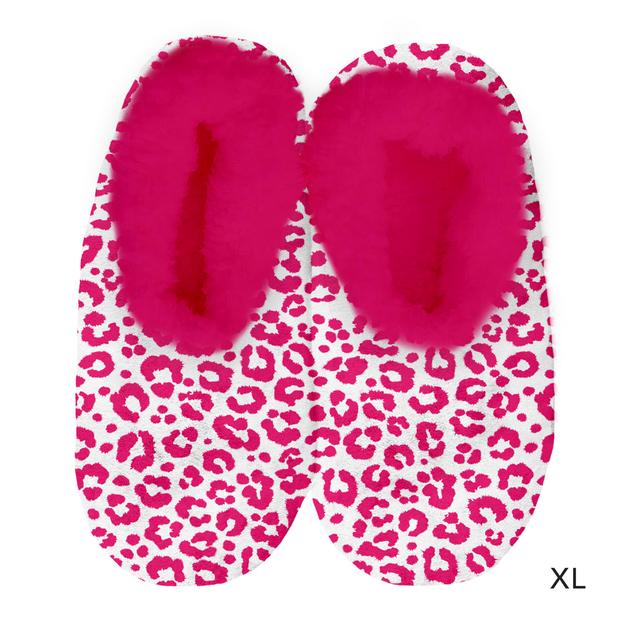 Sploshies: Women's Velvet Slippers - Leopard Pink (X-Large)