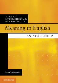 Meaning in English by Javier Valenzuela image
