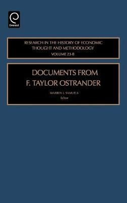 Documents from F. Taylor Ostrander