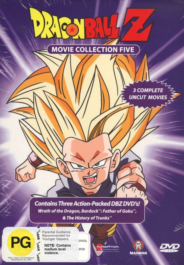Dragon Ball Z Movie Collection 5 (Movie 13 + TV Specials) (3 Disc Box Set) on DVD image