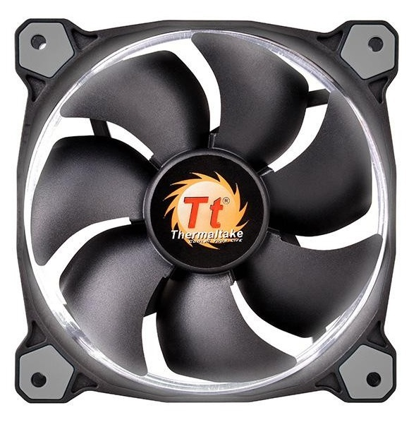 120mm ThermalTake Riing 12 Radiator Fan - White LED