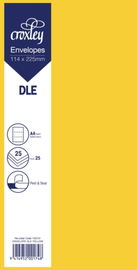 Envelope DLE Yellow - 114x225mm (Pack 25)