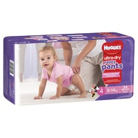 Huggies: Ultra Dry Nappy Pants Bulk Value Box - Size 4 Toddler Girl (136)