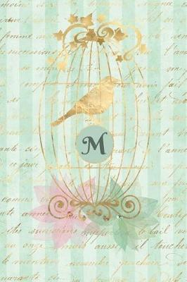 Plan on It Undated 12 Month Weekly Planner Gilded Bird in a Cage Personalized Letter M by Nine Forty Publishing
