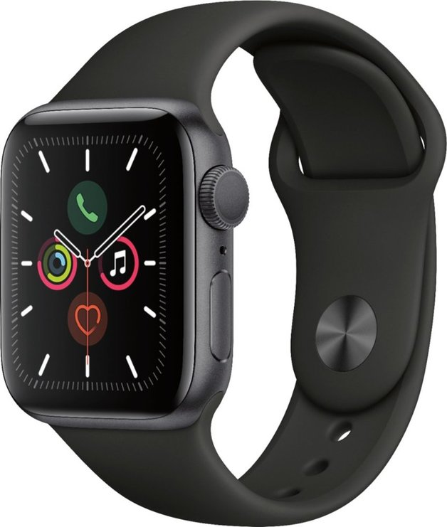 Apple Watch: Series 5 - with 44mm Sports-Band (Space Grey/ Aluminium)