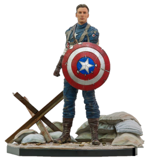 Marvel: 1/10 Captain America WWII (Deluxe) - Art Series Statue