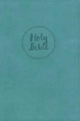 niv super giant print reference bible giant print leathersoft turquoise red letter edition