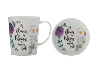 Maxwell & Williams Royal Botanic Garden Green Thumb Mug & Coaster - Bloom (400ML)