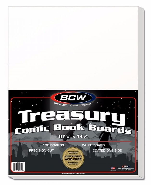 "BCW: Comic Backing Boards - Treasury (10.25"" x 13.5"")"