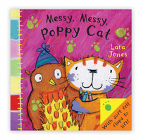 Poppy Cat Peekaboos: Messy Messy, Poppy Cat image