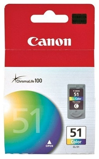 Canon Ink Cartridge Fine (High Yield) CL-51 Colour