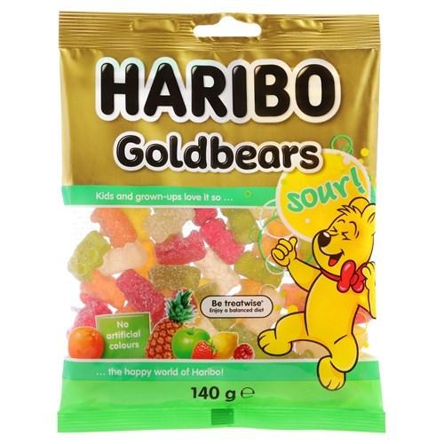 Haribo Sour Goldbears (140g) image