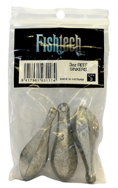 Fishtech Reef Sinkers 3oz (3 per pack)