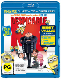 Despicable Me - Double Play on DVD, Blu-ray