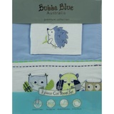 Bubba Blue: 3 pc Cot Sheet Set - Blue Owl