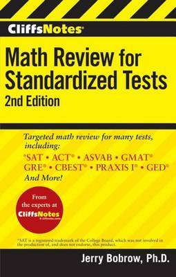 CliffsNotes Math Review for Standardized Tests by Jerry Bobrow image