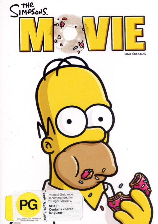 The Simpsons Movie on DVD image