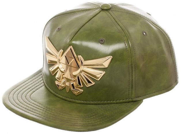 The Legend of Zelda Green PU Leather Snapback Cap