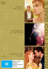 Pride and Prejudice/Shakespeare in Love/Phantom of the Opera (3 Disc Set) on DVD