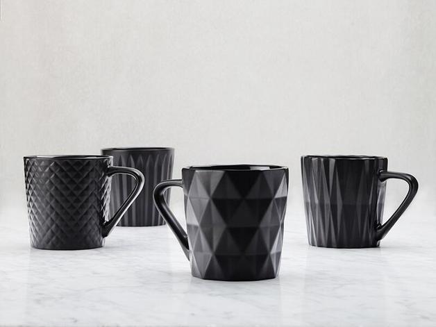 Maxwell & Williams Mug Set of 4 - Matte Black (400ML)