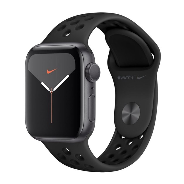 Apple: Series 5 40mm Space Grey Aluminium Case with Nike Sport Band Watch - Anthracite Black