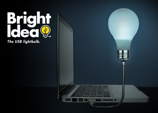 Bright Idea USB Lightbulb - by Mustard