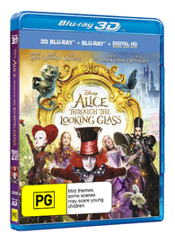 Alice Through the Looking Glass on Blu-ray, 3D Blu-ray