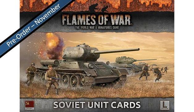Flames of War: Soviet Unit Cards (Late War)