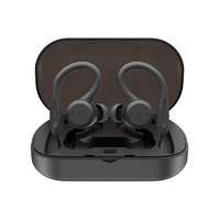 True Wireless Sports Earbuds with Charging Case - Onyx Black