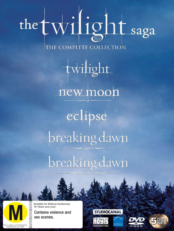 The Twilight Saga: The Complete Collection on DVD