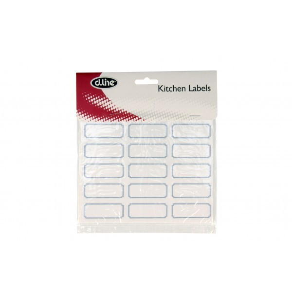 Blank Kitchen Labels