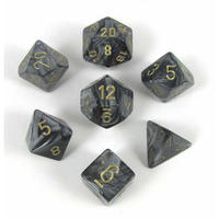 Chessex Signature Polyhedral Dice Set Lustrous Black/Gold