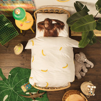 Snurk: Quilt Cover Set Banana Monkey - King Single