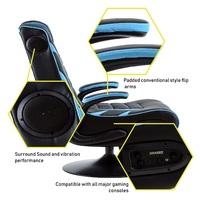 BraZen Panther Elite 2.1 Bluetooth Surround Sound Gaming Chair (White) for