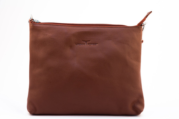 Urban Forest: Emma Leather Sling Bag - Redwood
