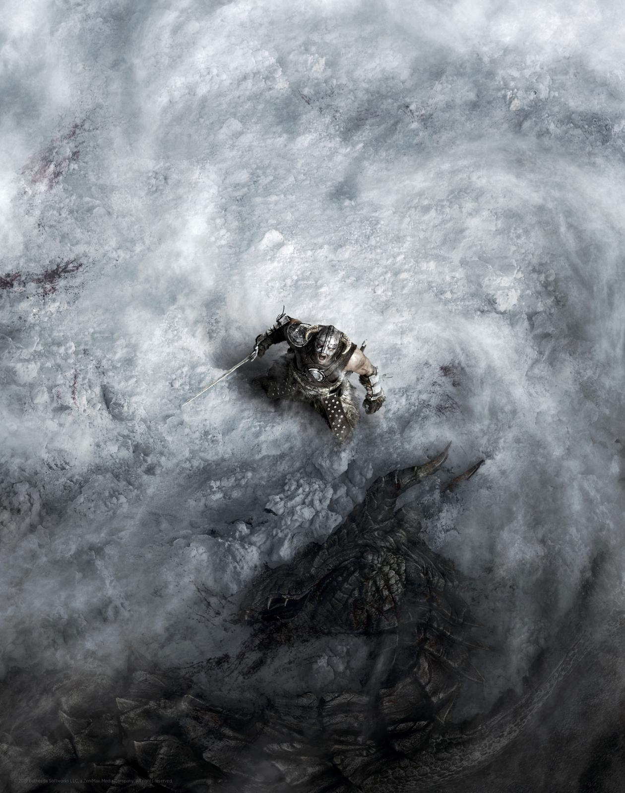 Elder Scrolls: Skyrim - Premium Art Print - Dragon Born image
